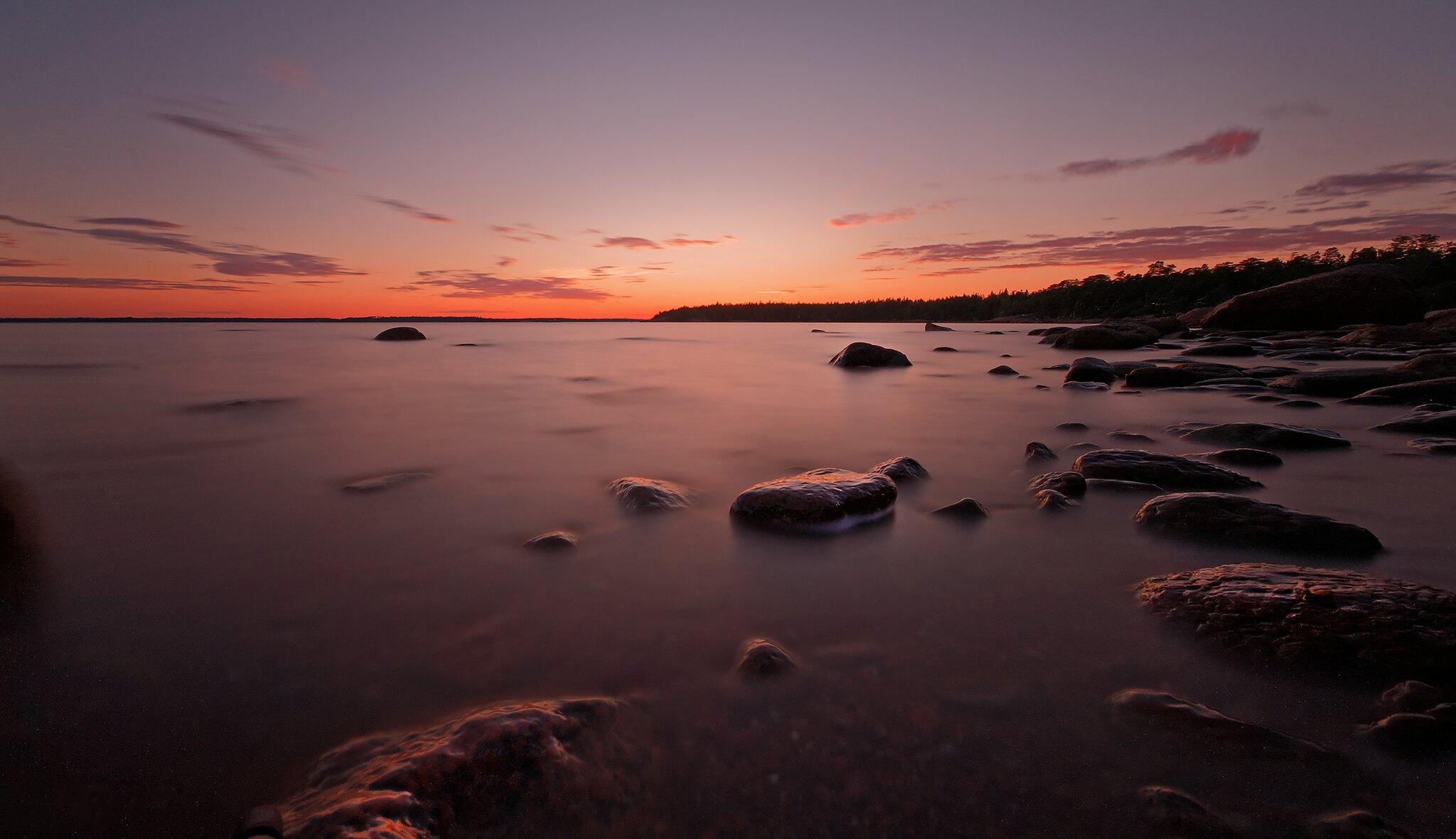 landscape long exposure sunset