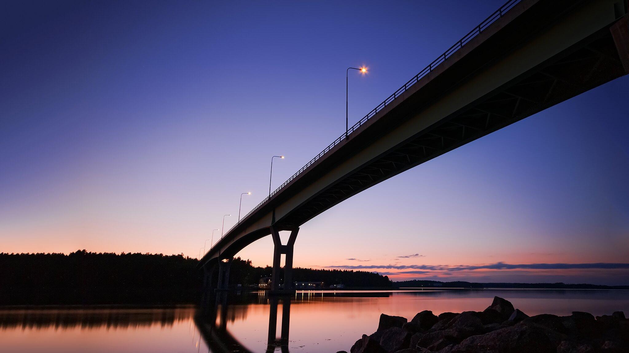 landscape sunset bridge