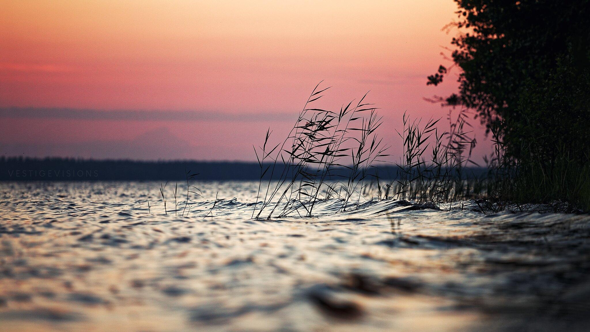 landscape sunset lake