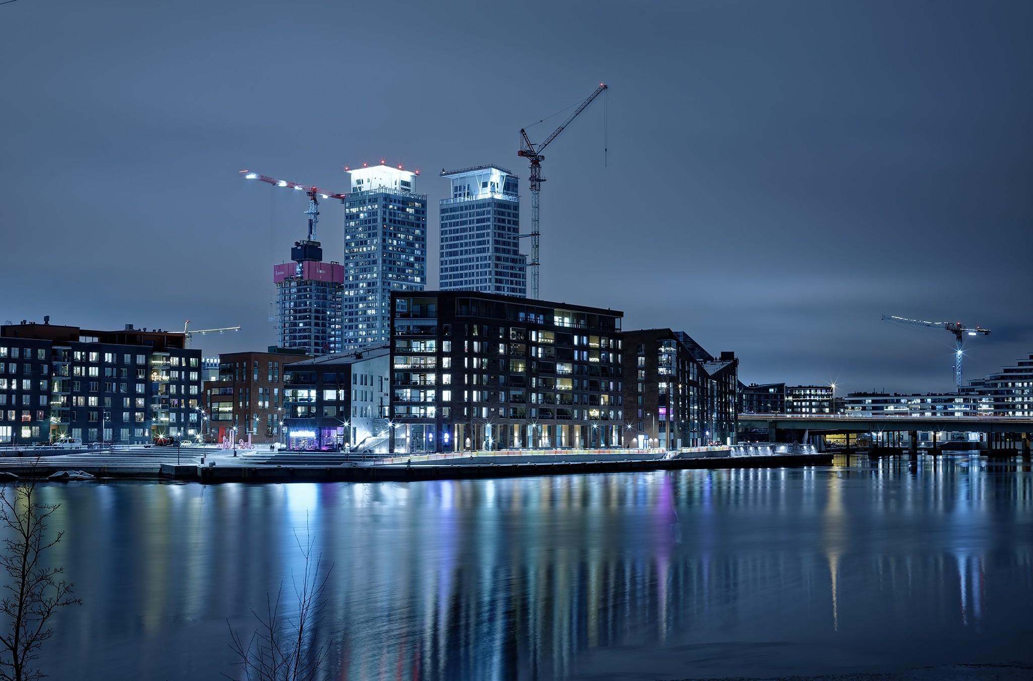 Helsinki Finland Suomi cityscape Kalsatama