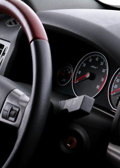 car interior instrument panel