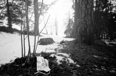 mask covid19 corona trash roska nature luonto korona suomi finland